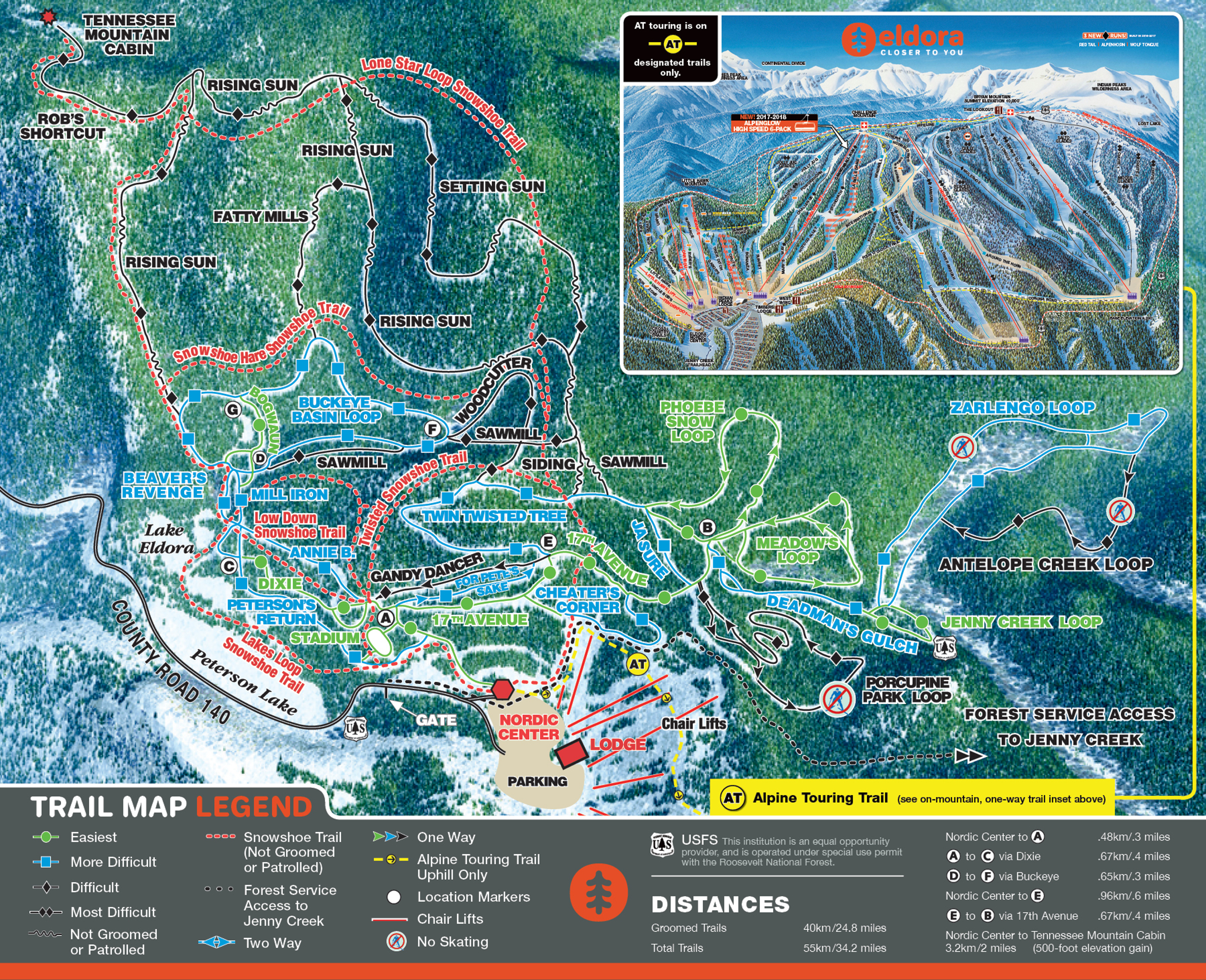 Cross Country Skiing Map | Nordic Skiing at Eldora on